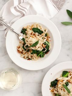 A wonderful easy pasta made with caramelized onions fennel greens sage lemon and balsamic. We love this healthy vegetarian dinner! Pasta Linguini, Vegan Pasta, Greens Recipe, Winter Food, Along The Way, Pasta Dishes, Pasta Recipes, Recipe Pasta, Recipes Dinner