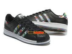 Adidas Originals Superstar - Chaussures Adidas Running Pas Cher Pour Homme/Femme Noir S79391