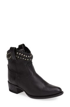 Frye 'Diana' Cut & Studded Leather Short Boot (Women) available at #Nordstrom