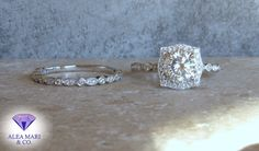 Vintage Style, Vintage Fashion, Cushion Halo, Diamond Alternatives, Thing 1, Bridal Sets, Moissanite, Fine Jewelry, Diamonds