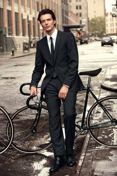 ♂ Man with his bicycle Handsomest & Bikes