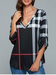 SHARE & Get it FREE | V Neck Plaid BlouseFor Fashion Lovers only:80,000+ Items • New Arrivals Daily • Affordable Casual to Chic for Every Occasion Join Sammydress: Get YOUR $50 NOW!