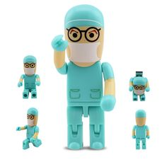 Best Gift 2GB 4GB Cartoon Robot Medical College of Surgeons Doctor Pendrive Flash Drive Pen Driver USB 2.0 U Disk Memory Stick