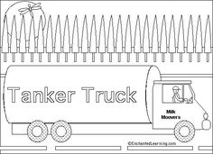 Tanker Truck Online Coloring Page