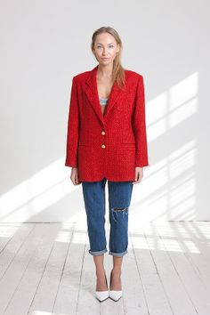 classic red vintage coat