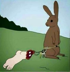 21 dessins d'artistes dénonçant la maltraitance des animaux--Yes, that's like the old notion of rabbits feet being lucky. The rabbit had 4 of them and it didn't save him. Art And Illustration, Illustrations, Save Our Earth, Vegan Humor, Why Vegan, Stop Animal Cruelty, Parallel Universe, Vegan Animals, All Gods Creatures