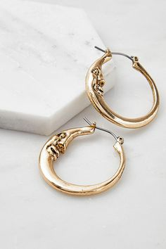 Diamond Hoop Earrings / Diamond Huggies / Solid Gold Huggie Earrings / Tiny Hoop Earrings / Diamond Hoop Earrings / Fine Jewelry *** The Earrings are sold as a pair. Face Earrings, Moon Earrings, Ring Earrings, Urban Outfitters, Croissant, Watch Necklace, Diamond Hoop Earrings, Form, Colored Diamonds