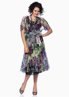 Stylish Plus Size Evening Wear for Women - BOUQUET DRESS - TS14
