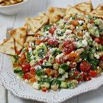 Middle Eastern Chickpea Salad | CookingInStilettos.com