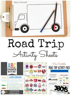 Travelling with kids soon? Here are are some great printable Road Trip Activity Sheets.
