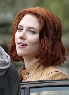 wouldn't look as good as scarlett in a black catsuit, but maybe i could pull off the hair...