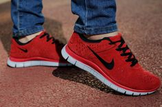 Nike Free 4.0 V2 Suede Womens Red - Click Image to Close