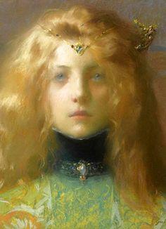 Jeune Fille De Face DETAIL, 1899 Lucien-Victor Guirand de Scévola