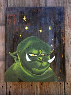 MAX the goblin Orc hobgoblin magic green fairy by SwanketySwank, $180.00
