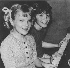 bobby and cindy brady (also those awful yarn hair ribbons, had them in every color!)