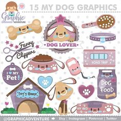 "35 Likes, 2 Comments - GraphicAdventure (@graphicadventure) on Instagram: """"Dog Graphics"" 🐶 ........... 💟 Personal and Small Commercial Use 💟 ......... Find it:…"""
