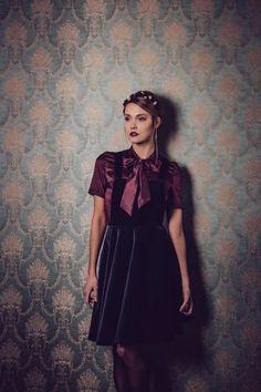 Midnight Blue, Blues, Goth, Fashion, Woman, Gowns, Gothic, Moda, Fashion Styles