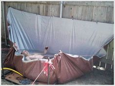 piscina improvisada