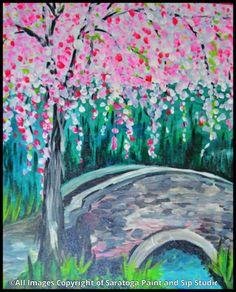 WEEPY CHERRY TREE at Saratoga Paint & Sip Studio