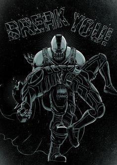 BREAK YOU! by Jonathan Miranda, via Behance inspired in the famous scene from KnightFall: Broken Bat