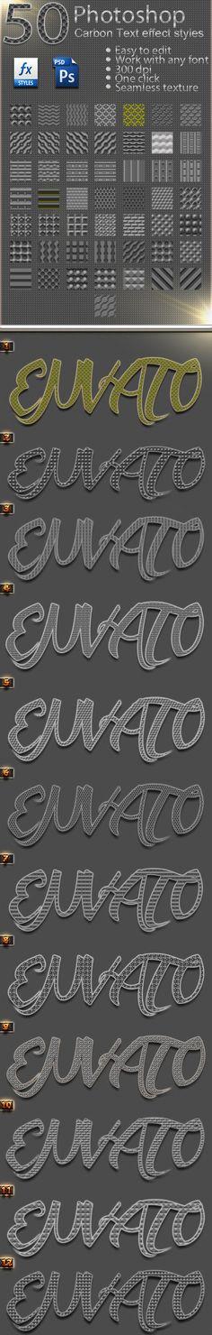 50 Photoshop Carbon Text Effect Styles Vol 32
