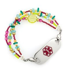 Fruit Punch Medical Id Bracelet Bracelets Peanut Allergy Food