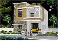 Raj Enclave by DSR Constructions BHK Residential House & Villas in Boduppal City, Hyderabad. Find more information on Raj Enclave Project at Magicbricks. House Floor Design, House Outside Design, 2 Storey House Design, Bungalow House Design, Modern Exterior House Designs, Modern Small House Design, Simple House Design, Village House Design, Kerala House Design