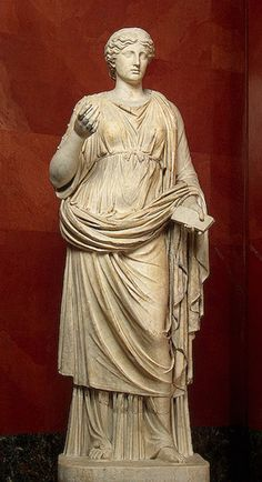 Calliope, Muse of Epic Poetry, 2nd century, Roman copy from a Greek original    The Hermitage Museum