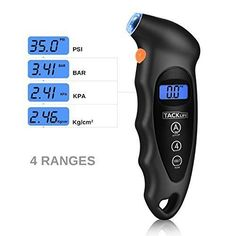 Tire Pressure Gauge Car Air Digital Motorcycle Auto LCD Truck Tester 100 PSI for sale online Tyre Gauge, Tire Pressure Gauge, Display Lcd, Gauges, Monitor, Motorcycle, Trucks, Bar, Life