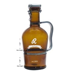 Personalized 2 Liter Grolsch Growler with by RaynorShineDesigns