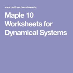 Feed18f 501547 modeling and simulation pinterest maple 10 worksheets for dynamical systems fandeluxe Image collections