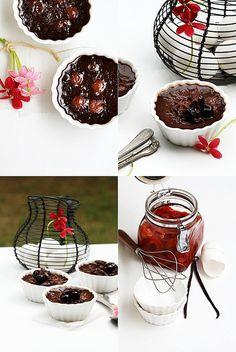 Chocolate and Cherry Pot de Creme