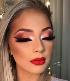Now that is make-up goalzzz✨✨ Glam Makeup Look, Makeup Eye Looks, Full Face Makeup, Cute Makeup, Gorgeous Makeup, Pretty Makeup, Flawless Makeup, Skin Makeup, Eyeshadow Makeup