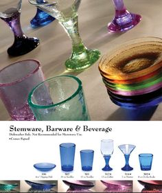 Fire and Light glassware-made from recycled glass.