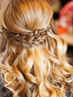 15 Half-Up Wedding Hairstyles With Braids | TheKnot.com