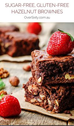 Sugar-free, Gluten-Free Hazelnut Brownies - These brownies are ideal for any brownie-lover looking to avoid processed sugar or gluten, and still taste delicious.