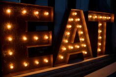 24 LARGE Old Vintage Style Marquee Letters Metal by JunkArtGypsyz, $189.90