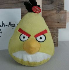 "ANGRY BIRD Plush Stuffed Large 10"" YELLOW CHUCK With Sound Unused. #Rovio"