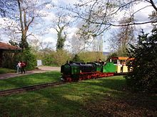 Art deco locomotive and trains