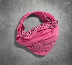 Finish off your look and support a great cause. | Harley-Davidson Women's #PinkLabel Leopard Accent Headwrap