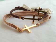 Baptism Party, First Communion, Bracelet Patterns, Leather Jewelry, Christening, Chokers, Bracelets, Handmade, Crafts