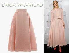Suki Waterhouse is wearing an Emilia Wickstean skirt and jacket