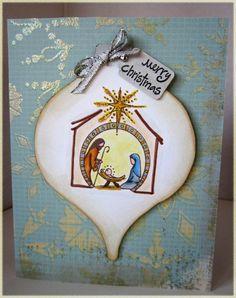 Nativity ornament card