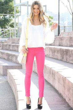 hot pink jeans