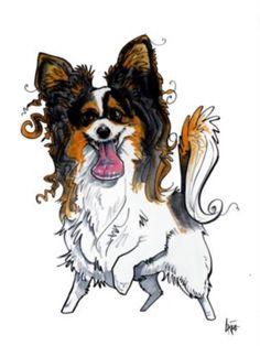 I want this - he also does sketches with your pics! Papillion Dog, Beagle Art, Pet Vet, Flamingo Decor, Dog Crafts, Dog Illustration, Rainbow Bridge, Dog Art, Animal Drawings