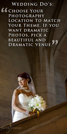 Wedding Day Tip: Choose a dramatic location to go with a dramatic theme.