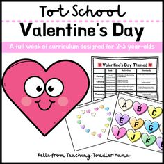 This Valentine's Day Curriculum designed for 2-3 year-olds is the perfect way to celebrate this fun holiday and incorporate some intentional learning at home. Curriculum includes a full-week calendar, book suggestions, and learning activities that address early learning standards. #ValentinesDayCurriculum #TeachingToddler #ToddlerCurriculum #ValentinesDay