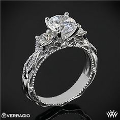 Verragio Beaded Twist 3 Stone Engagement Ring... uh this is it. right here