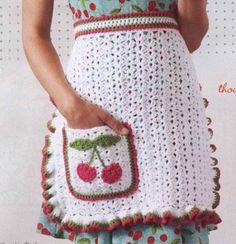 Pretta Crochet: Avental de crochet