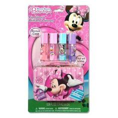 Minnie Mouse Bowtique 4 Pack Lip Gloss with Tin Box by Townley. $14.37